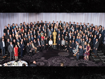 The Oscars -- #SoWhite Class Photo ... Where's The Weeknd? (PHOTO)