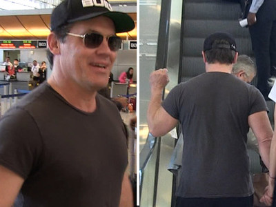 Josh Brolin -- Throws Up Black Power Fist ... Idris Elba Got Stiffed and So Did I (VIDEO)
