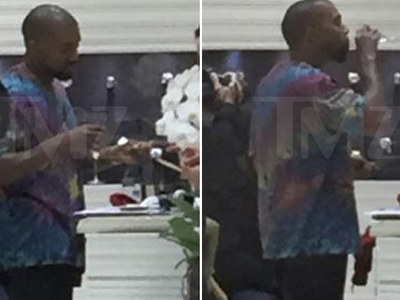 Kanye West -- Watch and Learn ... I'm Rich, Bitches!!! (PHOTOS)