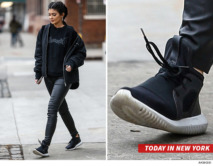 00c77200fe1 Kylie Jenner just confused everyone by stepping out in Adidas kicks