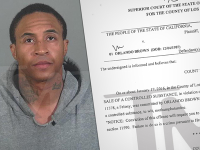 Disney Star Orlando Brown -- Busted for Hitting GF In Police Station Parking Lot (MUG SHOT)