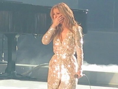 Celine Dion -- Breakdown in Vegas ... Don't Wanna Be All By Myself (VIDEO)