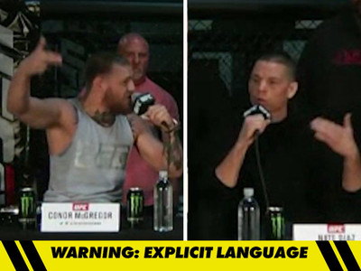 Conor McGregor/Nate Diaz Spew Hatred, Racial Epithets -- 'Cholo Gangsta' (VIDEO)