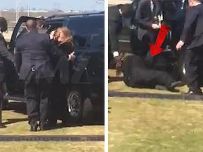 Sen. Bernie Sanders -- Wife Takes A Spill (VIDEO)