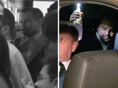 Leo DiCaprio -- A Little Vaping, a Little Drinking to Celebrate Oscar Win (VIDEO)