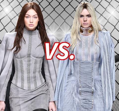 Brunette Gigi Hadid (20) vs. Blonde Kendall Jenner (20)