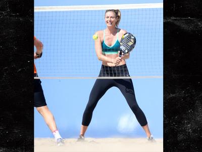 Maria Sharapova -- Squeezing In Beach Tennis ... Before Doping Suspension