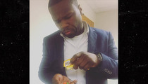 50 Cent -- Wad of Fake Bills in His Pants  ... Or Just Happy to See the Judge? (PHOTO)