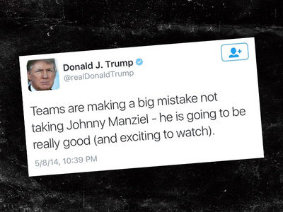 Donald Trump -- Predicted Greatness for Manziel During Draft Slide