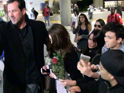Selena Gomez -- Mobbed in L.A. ... Scarier than a Stuck Elevator (VIDEO)