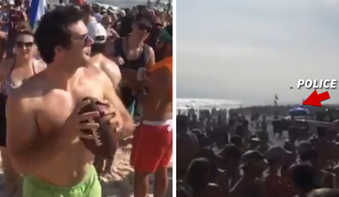 Spring Break Viral Video Football Show-off Wanted by Cops ... Blows Whistle On Himself