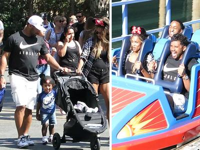 Russell Wilson -- Biggest Kid at Disneyland ... Screams Prove It (VIDEO)