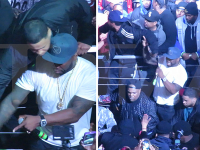 50 Cent -- Keeps Cool (Mostly) As Club Gig Gets Violent (VIDEO)