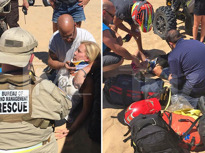 'O.C. Housewives' ATV Crash -- Disaster Scene ... Vicki Gunvalson Was Puking, Went Numb (PHOTOS & VIDEO)