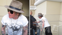 Axl Rose -- All Crutched Up And Ready To Rock (PHOTOS)