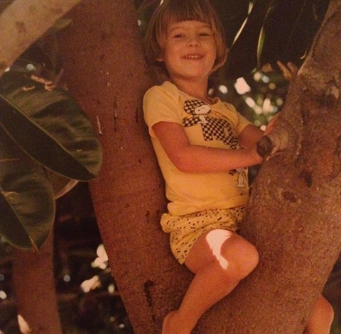 Before this bobbed cut cutie was workin' the runway, she was just another perched princess playing in trees in Namibia.