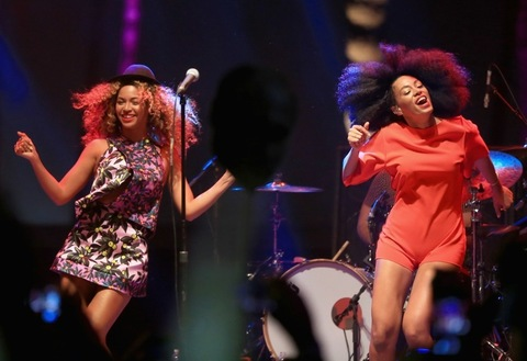 2014: Beyonce performs with her sister Solange onstage during day 2