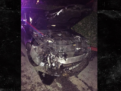 Johnny Manziel -- Mangled Wreckage Of Hollywood Crash (VIDEO)
