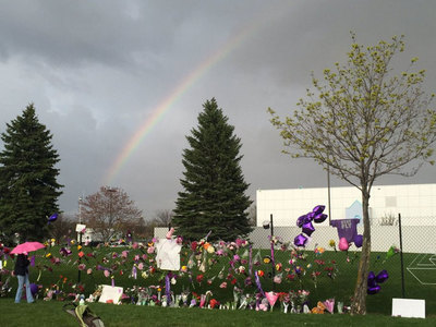 Prince -- Giant Rainbow Over Paisley Park Home