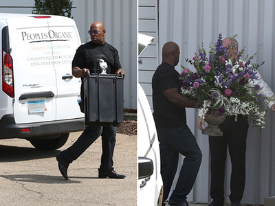 Prince -- Private Memorial At Paisley Park (PHOTOS)