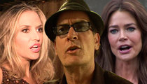 Charlie Sheen -- Ex-Wives Powwow for More Child Support ... Kids at Risk