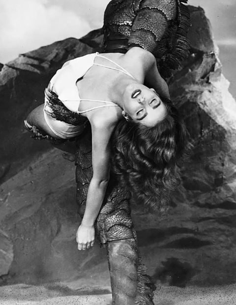 "Julie Adams is best known for playing the hydrodynamic damsel in distress Kay Lawrence in the eery 1954 monster movie ""Creature from the Black Lagoon."""