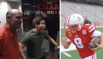'Workaholics' Star -- Returning Punts for Nebraska ... Sorta (VIDEO)
