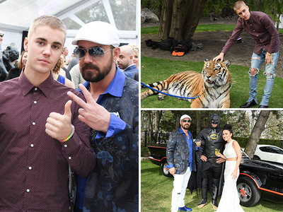 Justin Bieber -- Bizarre Engagement Party for Dad (PHOTOS)