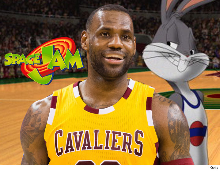 41cdf025102 LeBron James -- Starring In  Space Jam 2  ... Bring On the MonStars ...