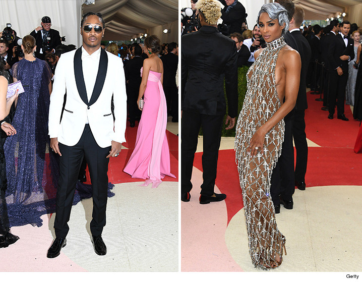 Both Future And Ciara Were At The Fake Prom Met Gala Thing In Ny Monday Night But Who Wasn T There S Very Real Fiance Rus Wilson