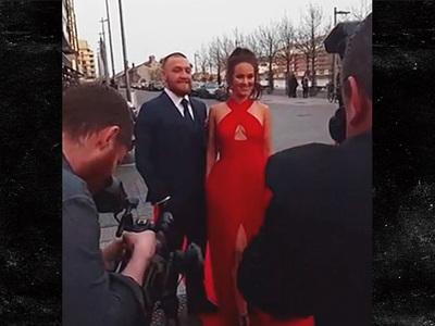 Conor McGregor -- Hits Irish Award Show ... Smiling & Happy