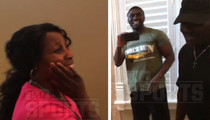 Boxer Andre Berto -- Surprise, Mom ... I Bought You This Mansion! (VIDEO)