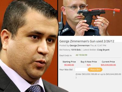 George Zimmerman -- Legit Bid for Trayvon Martin Gun Tops $400k