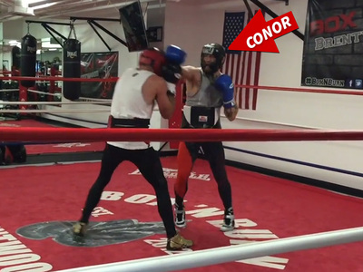 Conor McGregor -- Video of Boxing Sparring Session ... With Ex-Boxing Champ