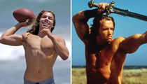 Arnold Schwarzenegger -- My Son Is a Not So Mini-Me (PHOTO)