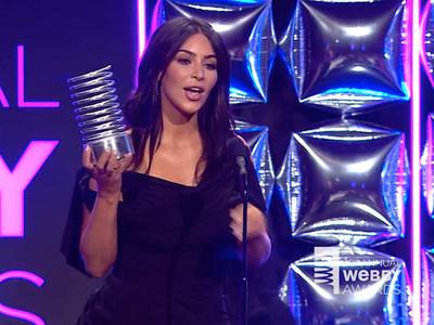 Kim Kardashian -- Greatest 'Nude' Acceptance Speech (VIDEO)