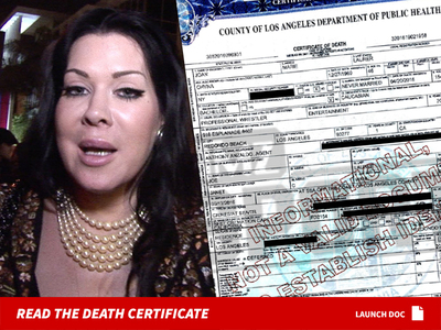 Chyna -- Death Certificate ... Family Requests Ashes Spread At Sea