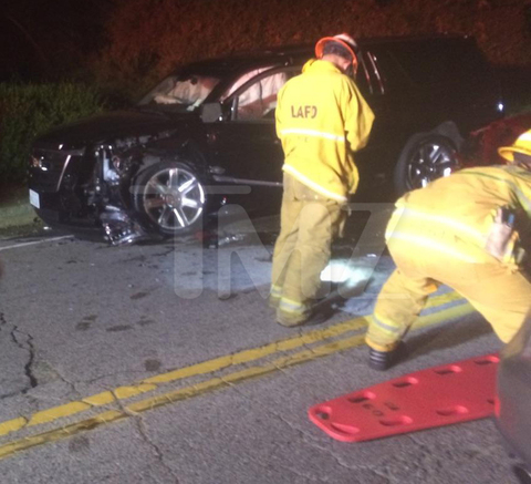 A VW Bug driven by a 16-year-old crossed the dividing line and smashed into the SUV, where Calvin Harris rode as a passenger, ejecting one of the girls from the VW.