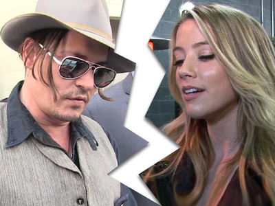 Johnny Depp -- Amber Heard Files for Divorce ... On Heels of His Mom's Death (UPDATE)