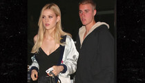 Justin Bieber -- Gets a Steak in Nicola Peltz (PHOTOS)