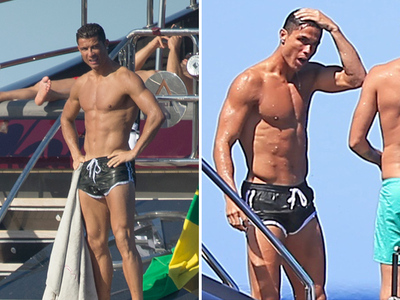 Cristiano Ronaldo -- The Champ Is Here ... Wet & Shirtless (PHOTOS)