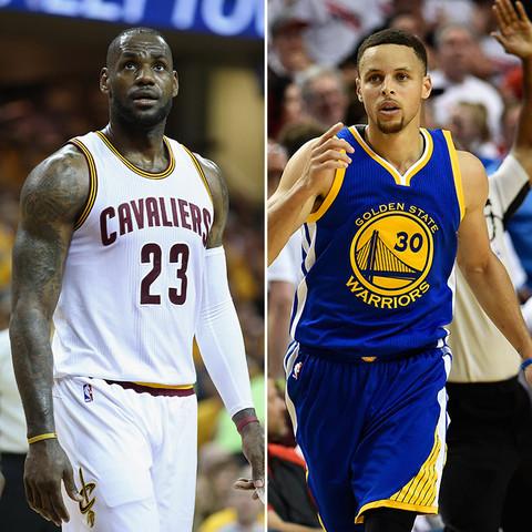 NBA All-Stars! LeBron James (31) vs. Stephen Curry (28)