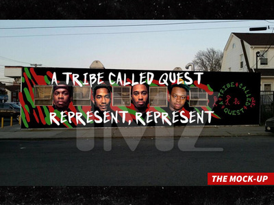 A Tribe Called Quest -- Cleaning Up with Mural Tribute (PHOTO)