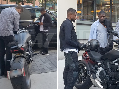 Usher -- Itching to Mount Expensive Beauty (PHOTOS)