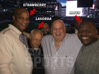 Darryl Strawberry & Tommy Lasorda -- Major League B-Day Turn Up ... At Beyonce Concert (PHOTOS)