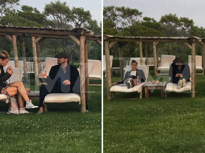 Leo DiCaprio -- Lounging Around with Nina Agdal (PHOTO)