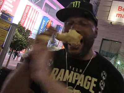 Quinton 'Rampage' Jackson -- Takes a Pounding Over Pound Cake!!! (VIDEO)