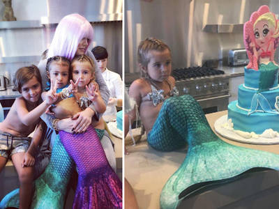 North West, Penelope Disick -- Casual Mermaid Attire Required For Our Birthdays (PHOTOS)