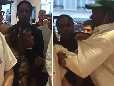 A$AP Rocky -- Plays Ref in All-Out Brawl ... at Fashion Week?!! (VIDEOS)