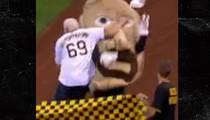 EX-WWE Scott Steiner -- Clotheslines Pierogi ... At MLB Game (VIDEO)